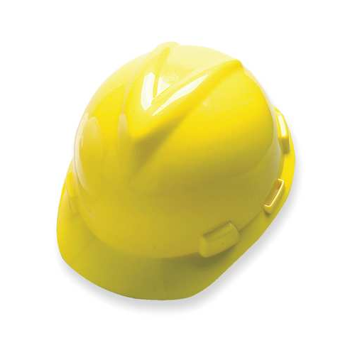 MSA 475360 V-Gard Yellow Hard Hat Fas-Trac III