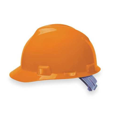 MSA 475361 V-Gard Orange Hard Hat Fas-Trac III