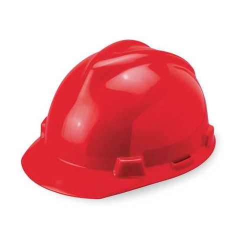 MSA 463947 V-Gard Red Hard Hat Staz-On-Pinlock