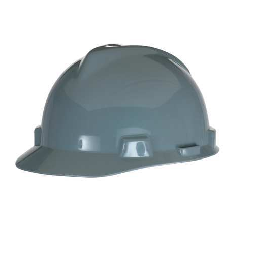 MSA 463948 V-Gard Gray Hard Hat Staz-On-Pinlock