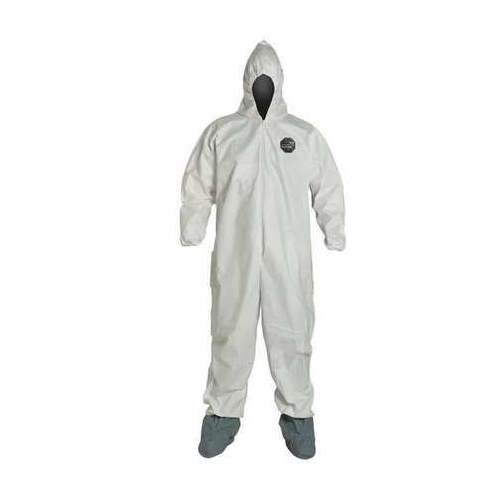 Dupont ProShield 60 Disposable Coveralls NG122SWH Hooded Boots Elastic Wrists and Ankles Case of 25