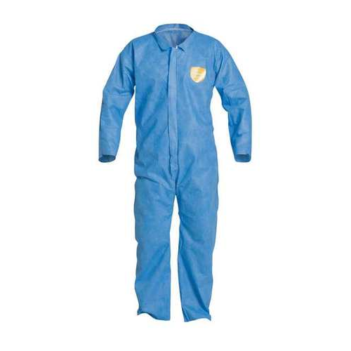 Dupont ProShield PB120SBU Blue Disposable Coveralls Collar Open Wrists and Ankles Case of 25