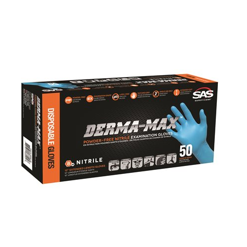 SAS Safety Derma-Max Nitrile Gloves