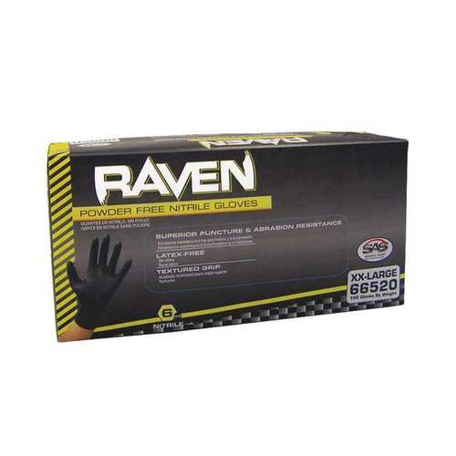 SAS Safety Raven Nitrile Gloves