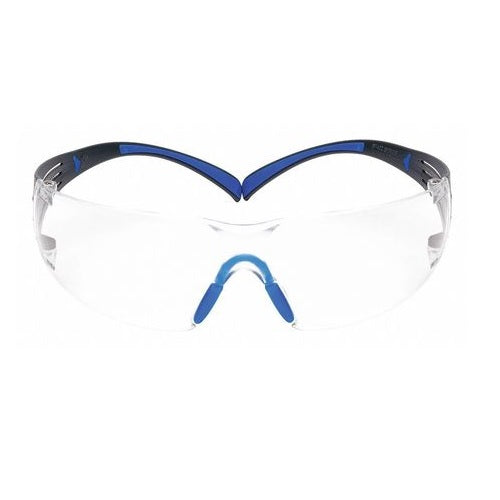 3M SF401SGAF-Blue 3M SecureFit Safety Glasses Clear ScotchGard Anti-Fog Lens