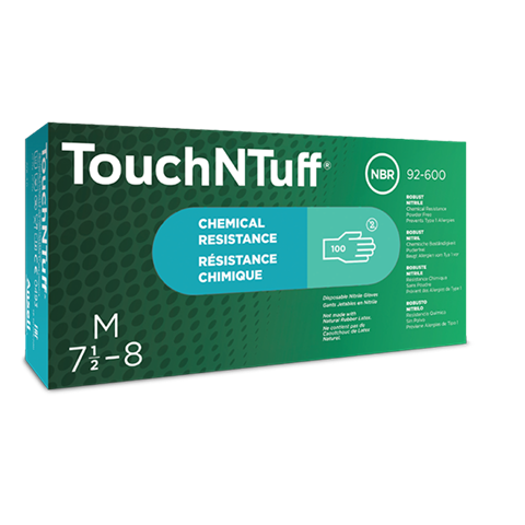 Ansell 92-600 TouchNTuff Nitrile Gloves Powder Free