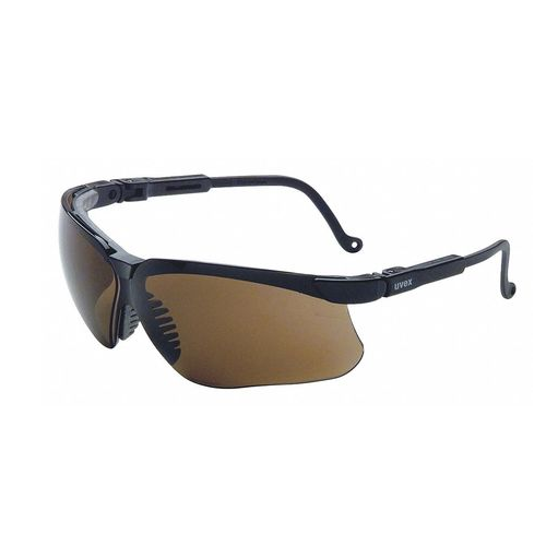 UVEX S3201X Safety Glasses Genesis UVEXtreme Espresso Anti-Fog Lens