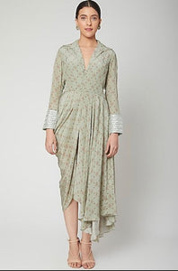 Green draped dress Chhavvi Aggarwal