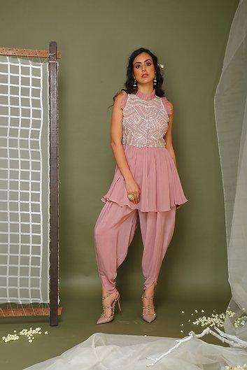 Lavender top and dhoti pants Chhavvi Aggarwal