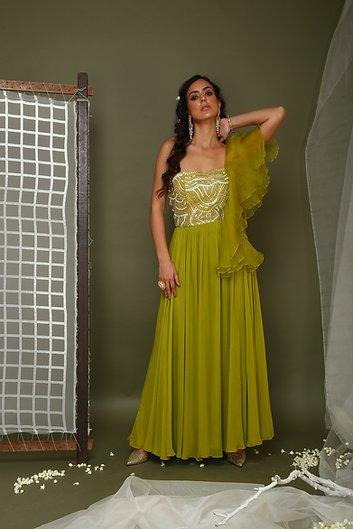 Lime green gown Chhavvi Aggarwal