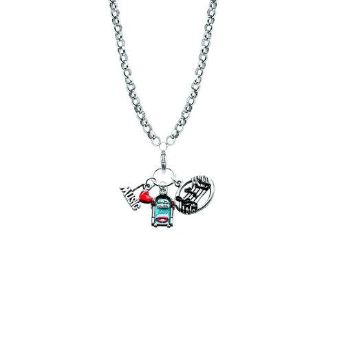 Music Lover Charm Necklace in Silver