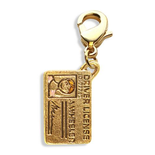 Drivers License Charm Dangle in Gold