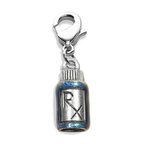RX Charm Dangle in Silver