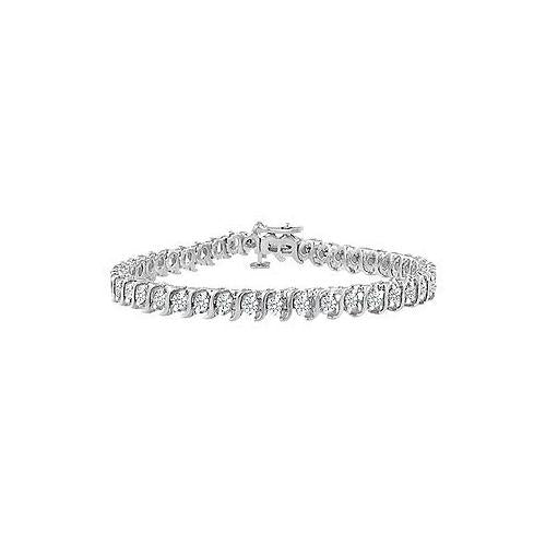 Diamond S Tennis Bracelet : 14K White Gold - 3.00 CT Diamonds