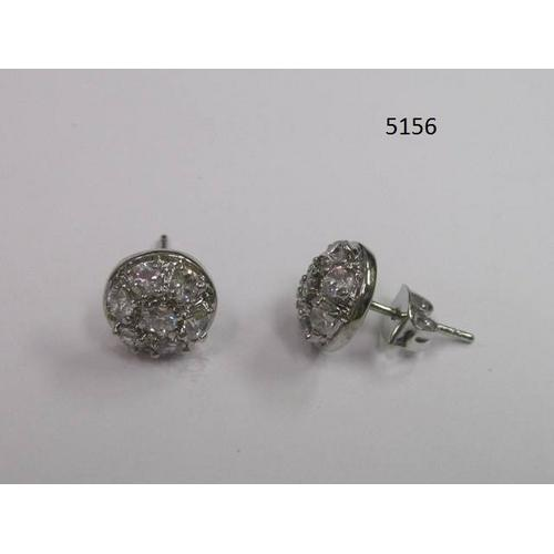 Round Clear CZ Earring