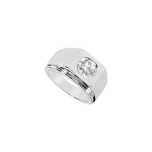 Mens Diamond Ring : 14K White Gold - 0.25 CT Diamonds