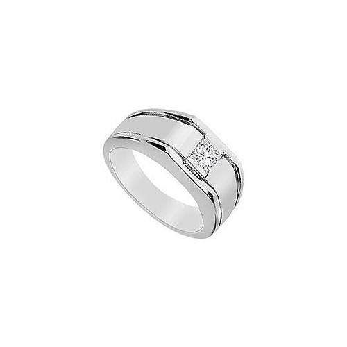 Mens Diamond Ring : 14K White Gold - 0.50 CT Diamonds