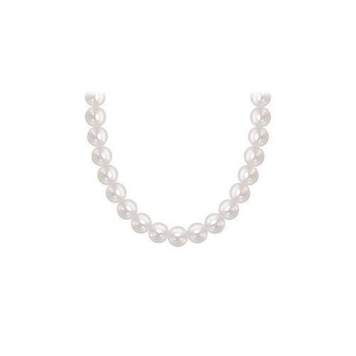 Freshwater Cultured Pearl Necklace : 14K White Gold  5 MM