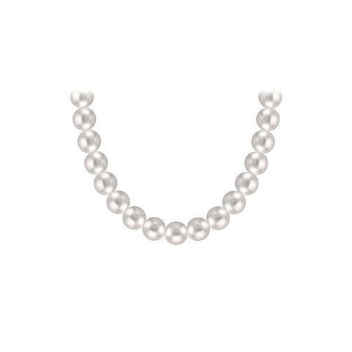 Freshwater Cultured Pearl Necklace : 14K Yellow Gold  8 MM