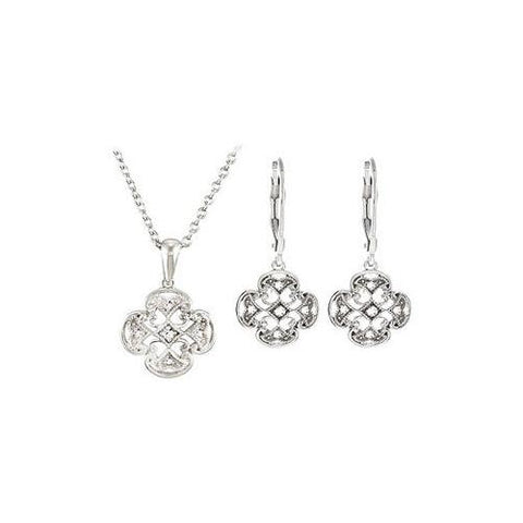 Sterling Silver > Necklace & Earring Sets