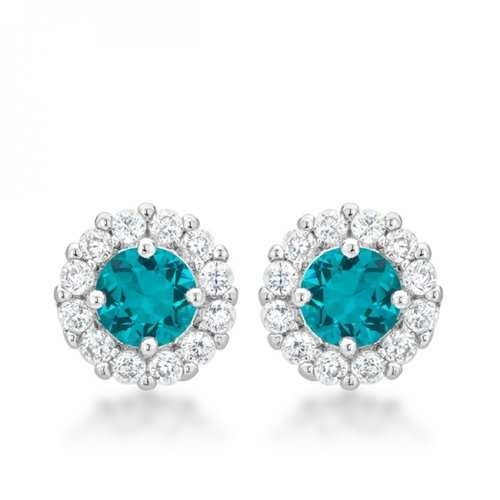 Bella Bridal Earrings In Aqua E50163R-C32