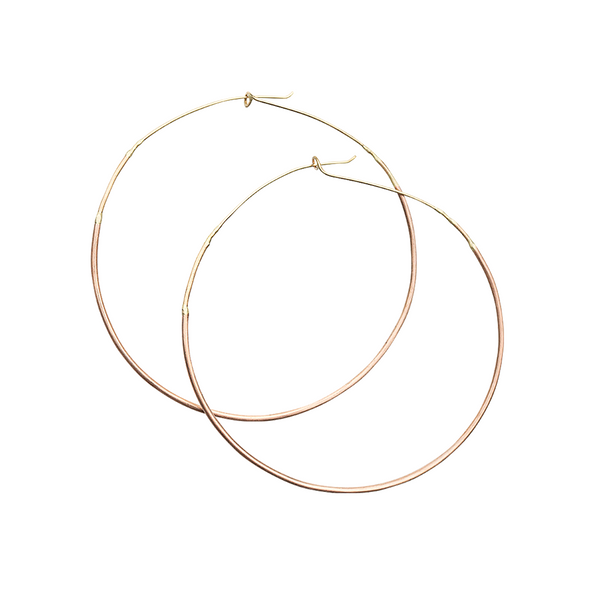 All Gold Ombre Large Hoops