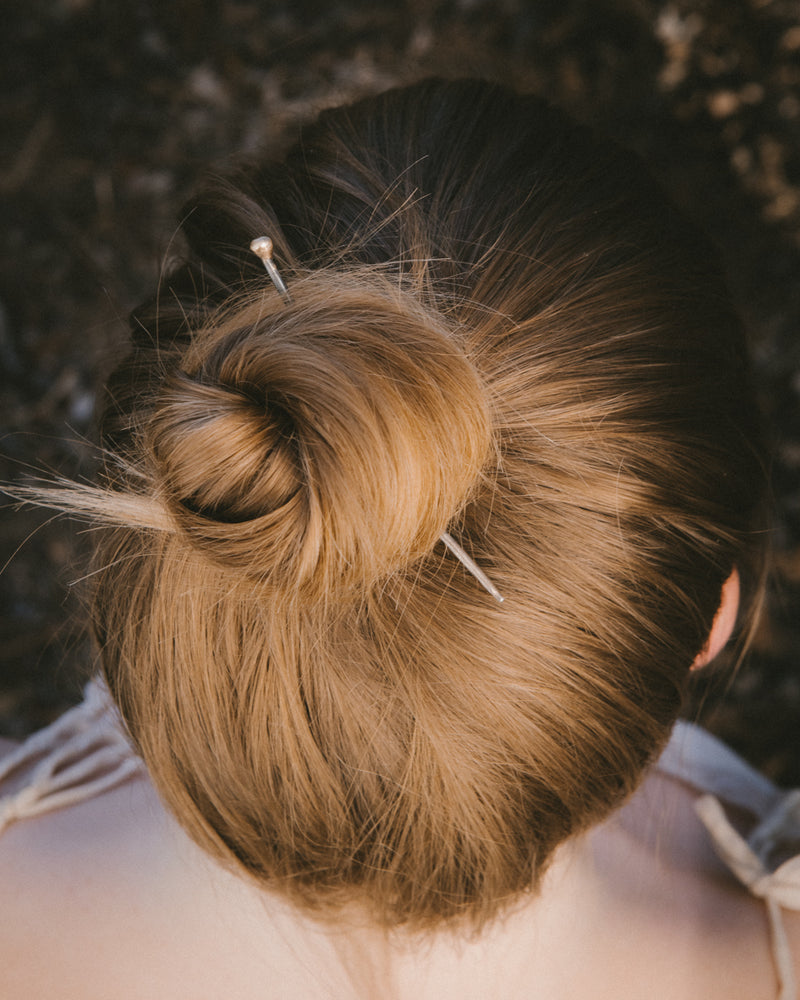 Gold and Silver Hair Pin