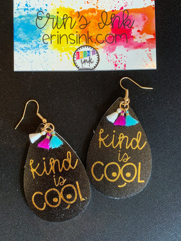 Kind is Cool Tassel Earrings