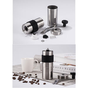 Stainless Steel Manual Coffee Grinder With Adjustable Coffee Mill