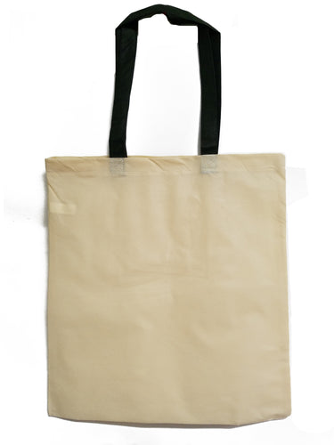 Natural Polypropylene tote with Black Handles