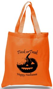Halloween Trick or Treat Tote with Jack-O-Lantern