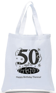 Aged to Perfection! 50th Birthday Tote Bag