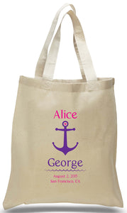 Anchor's Away Wedding Tote Made of 100% Cotton Canvas Available at Discount and Wholesale Prices.