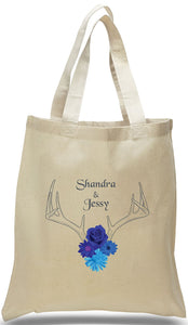 Antlers and Flowers - Nature Wedding Bags