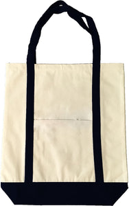 Classic All Cotton Canvas Beach Tote Available at Wholesale Discount Prices. Just $2.49!