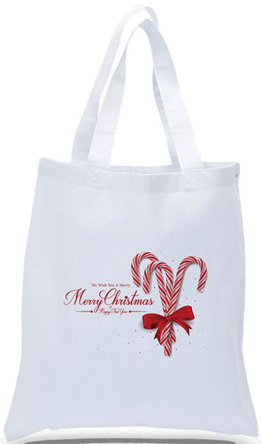 All Cotton Christmas Tote with Classic Candy Cane Design Just $3.99 Each.  Further Discount Pricing May Be Available For Large Orders.  Please Contact Us.
