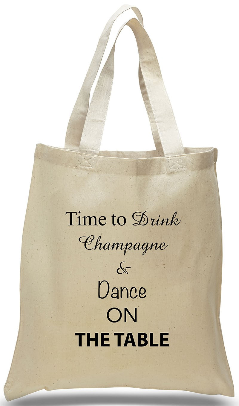 Wedding Welcome Tote on All Cotton Canvas with Popular Statement,