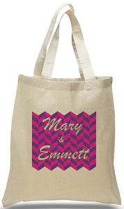 Artwork by the Famous Chevron on All Cotton Natural Color Canvas Tote Just $3.99, These Totes May Be Personalized For Weddings, Travel Clubs and Events.