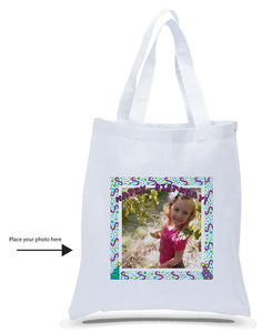 All Cotton Canvas Tote Printed with Your Custom Photo for Birthdays just $3.99 Each.
