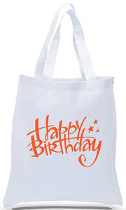 Happy Birthday Canvas Tote Made of 100% Cotton Canvas Just $3.99 Each. These Make Great Gift Totes!