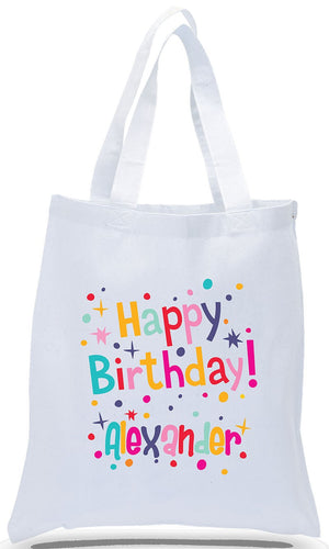 Happy Birthday Canvas Tote Made of 100% Cotton Canvas with Colorful Printed Design Just $3.99 Each