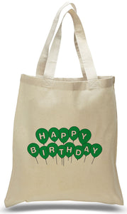 Happy Birthday Canvas Tote Made of 100% Cotton Canvas with Printed Design Just $3.99 Each