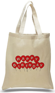 Happy Birthday with Balloons Gift Tote Bag