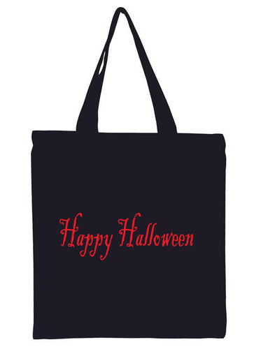 Happy Halloween All Cotton Canvas Tote