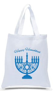 Happy Hanukkah Tote Bags Made of All Cotton White Canvas Just $3.99 Each