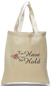 Wedding Welcome Tote Made of All Cotton Natural Color Canvas Just $3.99 Each.