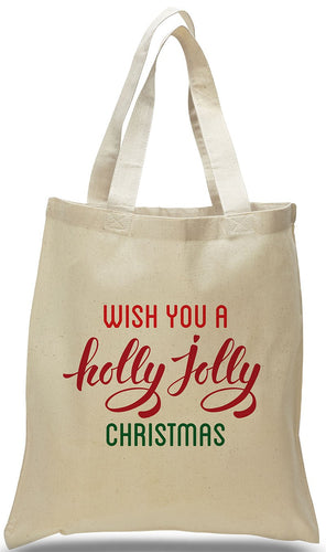All Cotton Christmas Canvas Gift Tote Bag Just $3.99 Each.