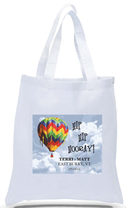Wedding Welcome Tote with Hot Air Balloon, Also Great for Special Events, Customizes with Names, Location and Date for Just $3.99 Each!
