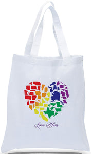 """Love Wins"" with A Heart Made of the  States, Ideal for Political Rallies, Clubs and Tourist Locations Just $3.99 Each."