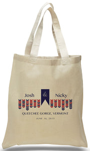 Wedding Welcome Tote Bag Made of 100% Cotton Customized with Names of Bride, Groom, Date and Location Just $3.99 Each.